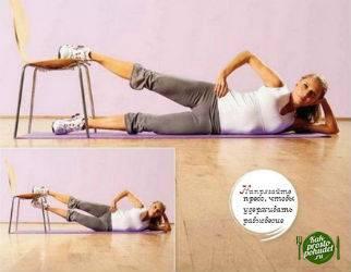 Упражнение для внутренней части бедра со стулом
